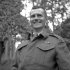 Lieutenant-Colonel E.P. Thompson of The Queen's Own Cameron Highlanders of Canada, at 23 years of age the youngest Commanding Officer in the Canadian Army, Dieppe, France, 3 September 1944.
